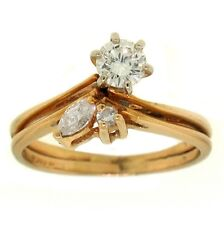 .51ct ROUND & MARQUISE DIAMOND RING 14K YELLOW GOLD