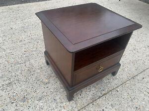 Stag minstrel one drawer one shelf bedside cabinet / table LBE180621G