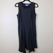 c83e9a35147 Simply Vera Sharkbite Hem Dress Size S Small Blue Black Sleeveless K18