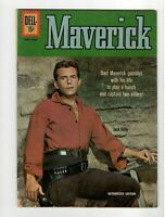 🚚 Maverick No.19  Dell  1962 TV Silver-Age Comic Jack Kelly! 15c Authorized Ed.