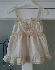 Girls Adams girls vintage style lace top, age 4yrs