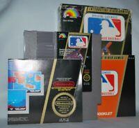 Major League Baseball CIB Cartridge Box Manual NES Nintendo Game Tested Good