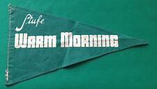 D8> BANDIERINA PUBBLICITARIA IN TESSUTO - STUFE WARM MORNING -