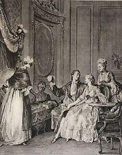 Moreau Jean-Michel le Jeune j 'en accepte l'heureux Présage XVIII retirage XXe