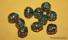 Nepalese beads Tibetan beads 10 Turquoise Beads Nepal beads Tibet beads BDS580