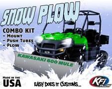 """KAWASAKI UTV 600 MULE 2005-2016 -  KFI UTV 60"""" Snow Plow Combo Kit"""