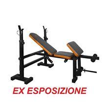 GETFIT Force 445 panca multiuso supporto bilanciere schienale seduta regolabile