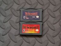 Lot Nintendo Game Boy Advance GBA Games The Incredibles + Rise of the Underminer