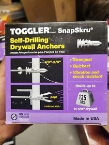 Toggler Snapskru self drilling drywall anchors Box of 100 135lb hold weight NIB