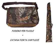 fodero fucile bosco + catana con rete porta cartucce caccia custodia borsa