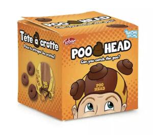 POO HEAD - 21456 TWO PLAYER CATCHING POOP HEADWEAR KIDS ADULT JOKE FUN TOY GAME
