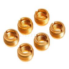 6* MIC Audio Head Adapter Brass Metal 3/8' to 5/8' Thread Convert Screw Adapter