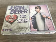 Factory sealed Justin Bieber poster puzzle 300 pieces