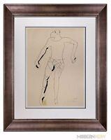 Marino MARINI Lithograph SIGNED Ltd EDITION Juggler 1945 +Custom FRAMING 20x24in