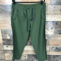 Paskho Women's Green Outdoor Jogger Pants With Drawstring Waist Size Xl