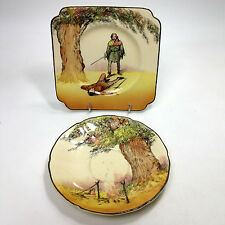 """ROYAL DOULTON """" Under The Greenwood Tree Saucer & Square Plate"""