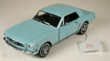 """New ListingFranklin Mint 1964 1/2 Ford Mustang Coupe """"Dynasty Green"""" Anib 1:24"""