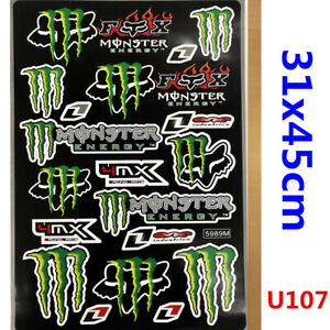 Monster Fox Sticker Decal Car Motorised Bike Dirt ATV Quad Motorcycle Motocross