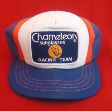 Vintage Chameleon Sunglasses Racing Trucker Mesh Hat Cap Dick Brooks #90