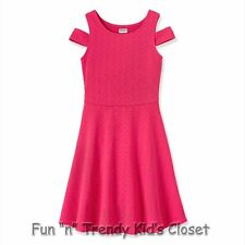 NWT RUUM American Kids Wear Girls Size 7/8 Knit Cold Shoulder Skater Dress NEW