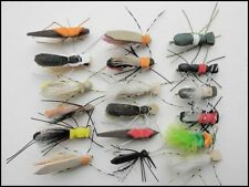 Foam Bug Fishing Flies, 18 per pack, mixed. Size 8, For Fly Fishing, Foam flies
