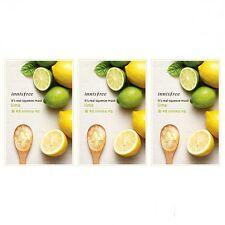 [innisfree] Real Facial Essence Mask Sheet Pack Lime Moisture Skin Care X 3PCS