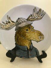 New listing Rachel Kozlowski Dapper Animal Plate-Mister Moose