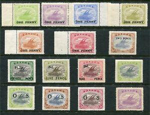 1917-32 Papua New Guinea Bulk Lot Of Overprinted Lakatoi MNH & Mint Light Hinge