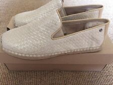 UGG Australia Shoes Size UK 8.5 Soft Gold Leather New In Box BNIB