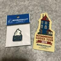 "2019 Moomin Valley Park JP Limited Pin badge ""Moomin & Little My + seal"