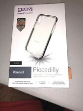 """Gear4 Piccadilly Series Case for Apple iPhone X/XS 5.8"""" - Clear/Black"""