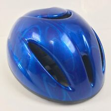 "Proaction Bicycle Helmet 19"" to 21"" Metallic Blue Swirls"