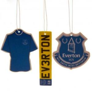 EVERTON FC 3 PACK AIR FRESHENER CAR ACCESSORY - OFFICIAL FOOTBALL GIFT, XMAS