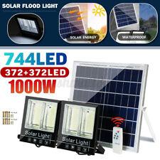 1000w Dual Head 744 LED Solar Flood Light Street Lamp Bright Security Waterproof