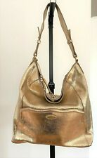 TAHARI Gold Leather Hobo Bag