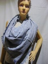 double side Scarf  stripe cotton scarf