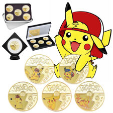 Pikachu Coin Pokemon Detective Anime Commemorative Comics 5PCS Set In Box