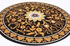 "42"" Marble Table Top stones inlay pietra dura Handmade Home Decor"