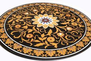 "48"" x 48"" Marble Table Top stones inlay pietra dura Handmade Home Decor"