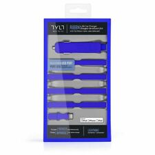 Ribbn Tylt Blue Flat Ribbon Cable Car Charger 3 Pack Apple iPhone i Pad iPod NEW
