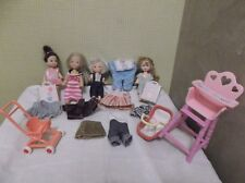 Lot poupées bébés Doll Barbie happy family Krissy Shelly Kelly mobilier