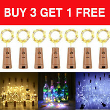 LED Bottle Fairy String Lights Battery Cork Shaped Christmas Wedding Party UK