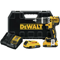 DEWALT 20V MAX XR Li-Ion 1/2 in. 2-Speed Hammer Drill Kit DCD796D2BTR recon