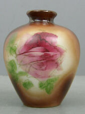 ANTIQUE OPAQUE MILK GLASS WESTMORELAND SPECILATY ROSE OVOID SMALL CABINET VASE