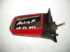 Opel Astra F Außenspiegel links Fahrerseite manuell verstellbar rot 90327453