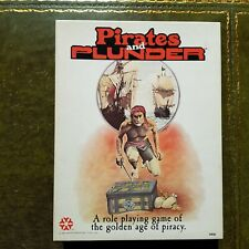 Pirates And Plunder - Role Playing Rpg Yaquinto Publications Roleplaying - 1982