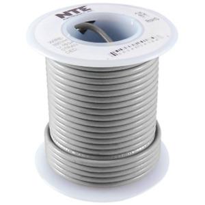 NTE WH24-08-100 Hook Up Wire 300V Stranded Type 24 Gauge 100 FT GRAY