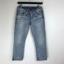 Silver Jeans - Aiko Low Capri Distressed Wash - Tag Size: 26 (27x23.5) - #5443