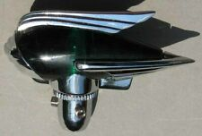 NOS CHROME AND GREEN ROCKET FENDER GUIDE or ANTENNA TOPPER #G533