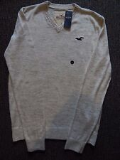 Bnwt mens grey slim fit  Hollister jumper / sweater size small